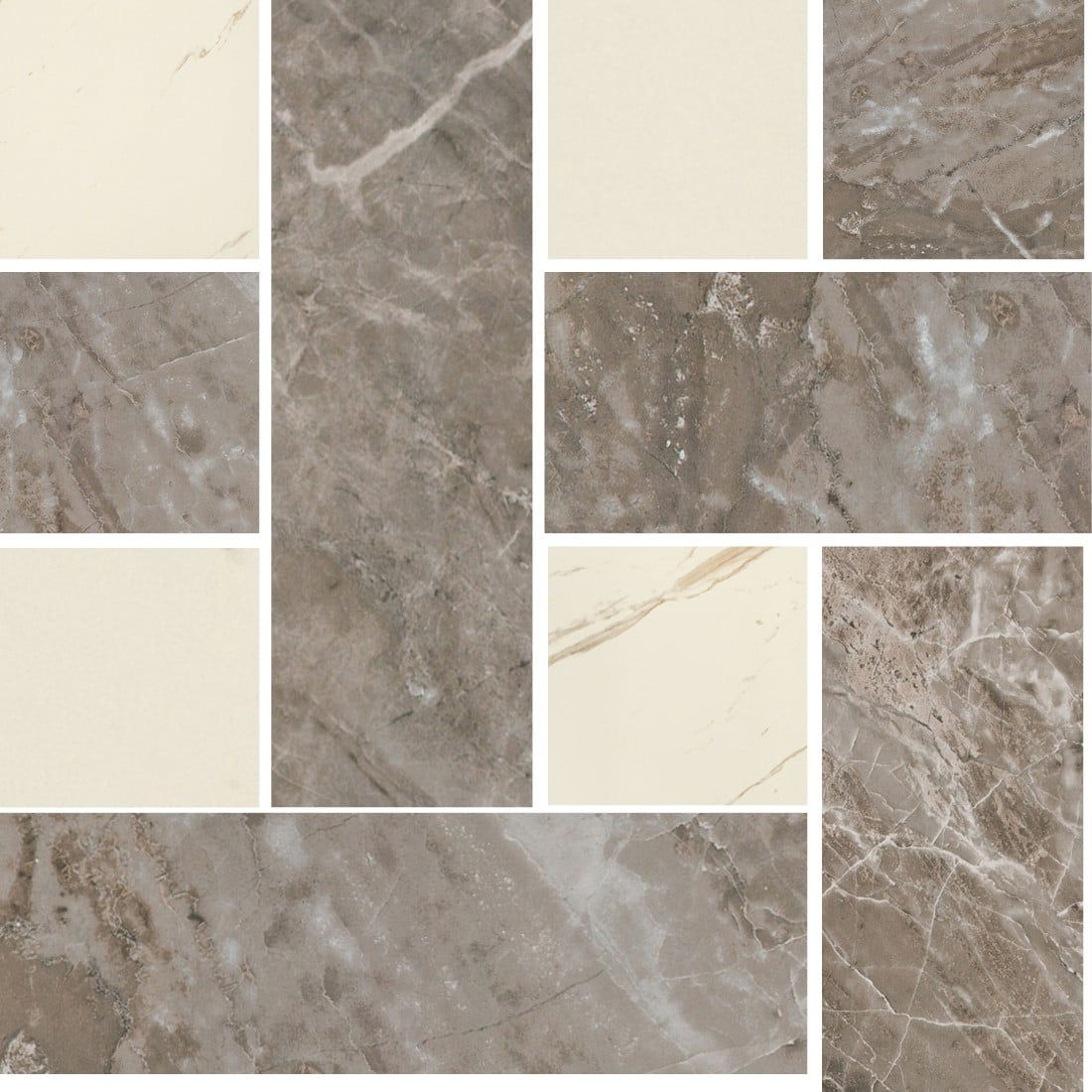 MARBLE Versace Home Mosaici Chesterfield Grigio/Bianco 240453