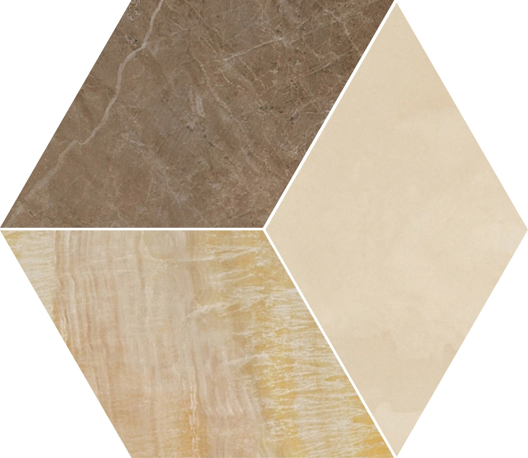 MARBLE Versace Home Mosaici T3 Marrone/Oro/Beige 240461