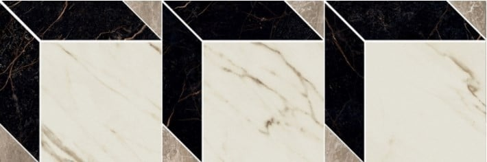MARBLE Versace Home Mosaici Cube Nero/Bianco/Grigio 240851
