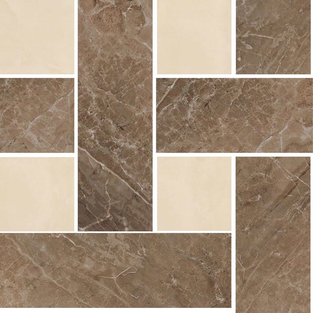 MARBLE Versace Home Mosaici Chesterfield Marrone/Beige 240452